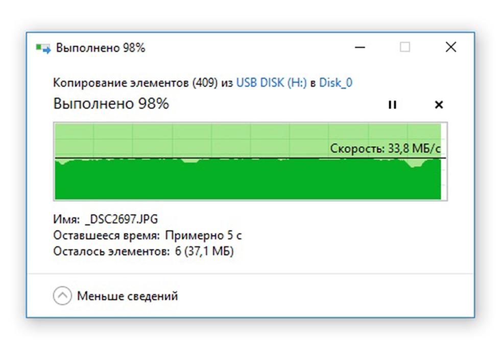 Чтение фото по USB2.0 с флешки USB DATO DB8002U3 32Гб