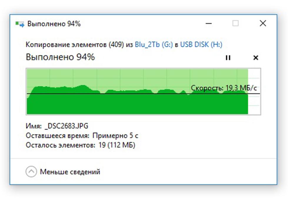 Запись большого количества фотографий  USB DATO DB8002U3 32Гб, USB2.0