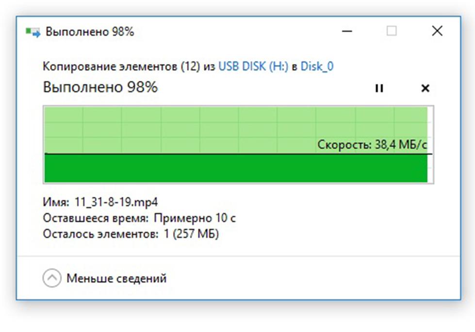 Чтение видео по USB2.0 с флешки USB DATO DB8002U3 32Гб