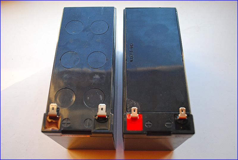 "Сравнение клемм аккумулятора IPPON и ""родного"" аккумулятора APC-500"