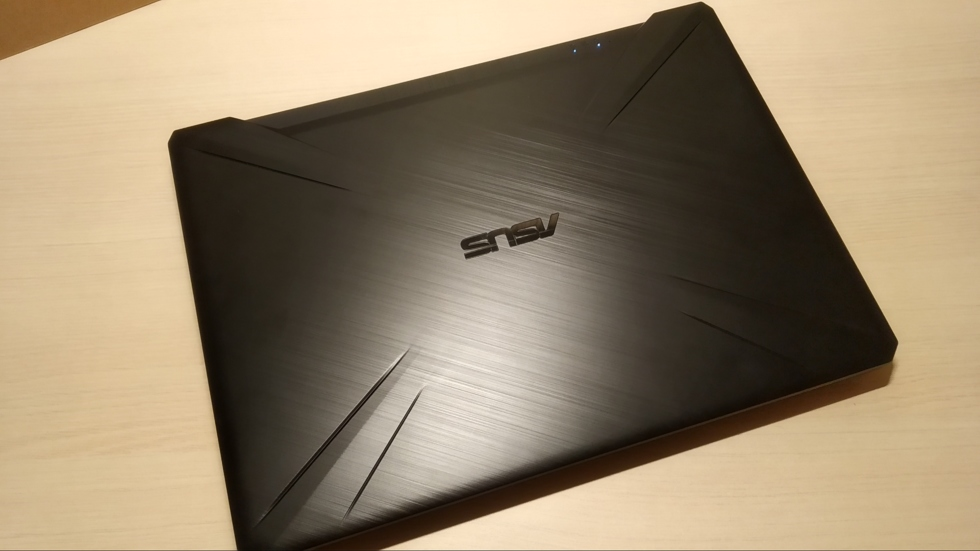 Ноутбук (вид сверху)