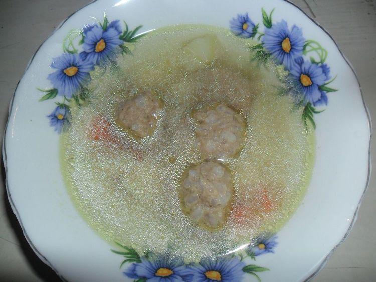 суп с фрикоделками