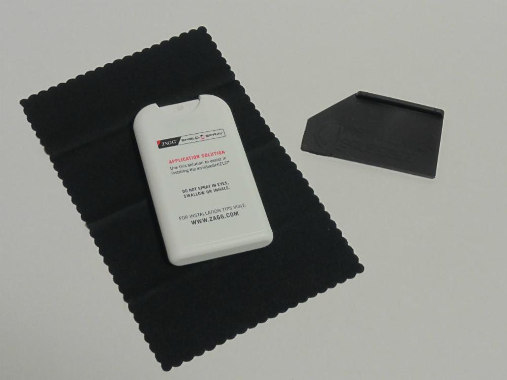 Комплект для установки плёнки - жидкость, скребок и салфетка